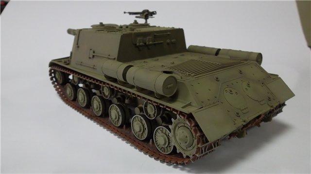 "ИСУ-152 ""Зверобой"", 1/35, (Звезда 3532) перекраска старой модели. 9f4cf5b05b62"