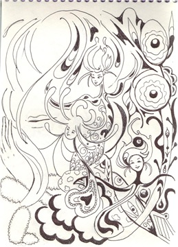 Рисунки ручкой 90487377cc09t