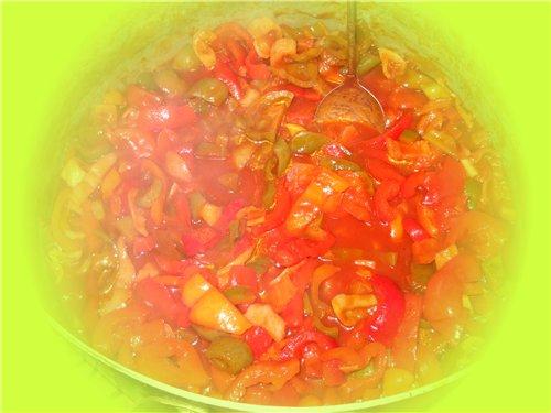 Вкусное лечо из перца и томатной пасты 37d17f0b5181