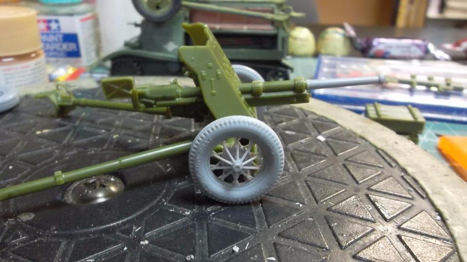 45-мм противотанковая пушка обр.1937 г., 1/35, (Алангер 035101). 54b9be55de54