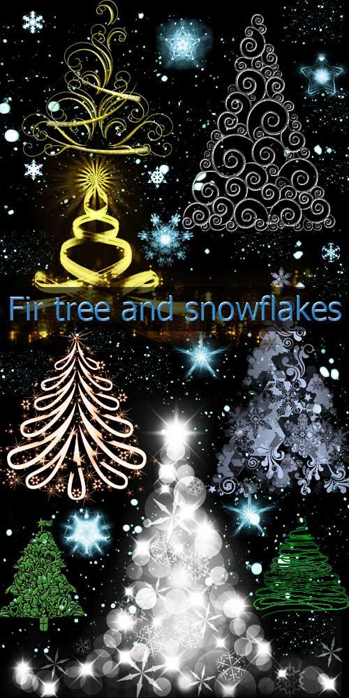 Снежинки-кисти фотошоп E58185bf9546