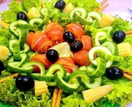 Идеи украшения салатов 7502219ad08e
