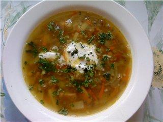 Суп из чечевицы с копченостями 53cbc90bec58