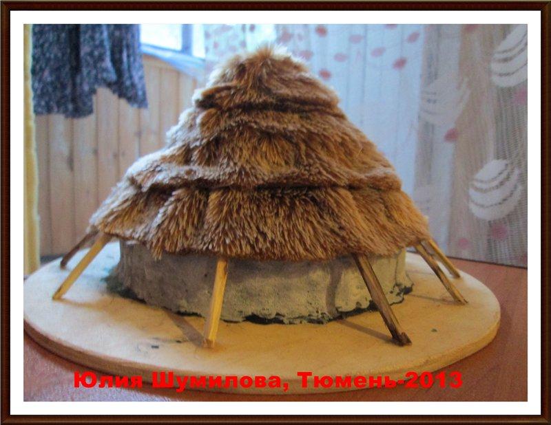 Реконструкция жилища кельтов, 5 в.до н.э (круглый дом), масштаб 1:100 (МОЯ ПЕРВАЯ РЕКОНСТРУКЦИЯ) 6a5ff32a712b