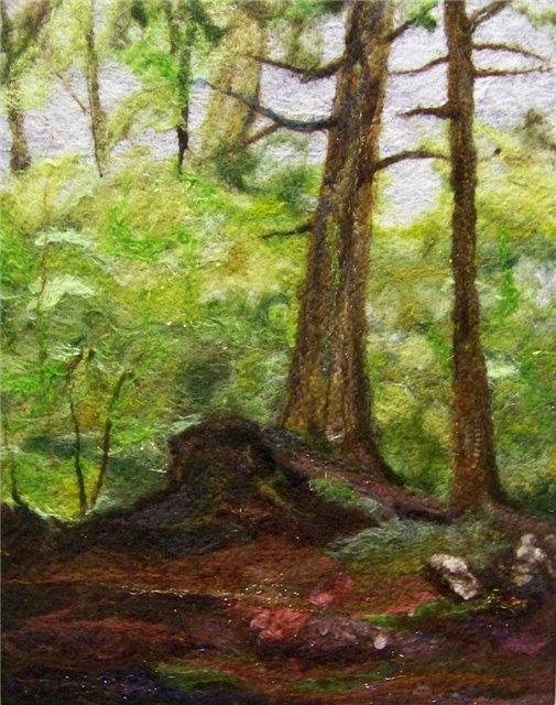 Deebs Fiber Arts создаёт чудесные картины из войлока. 738cac81d616