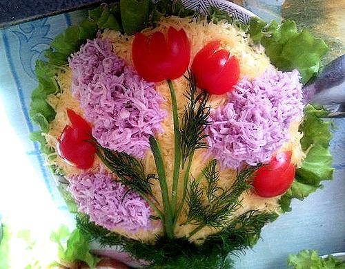 Идеи украшения салатов D6780dfac378