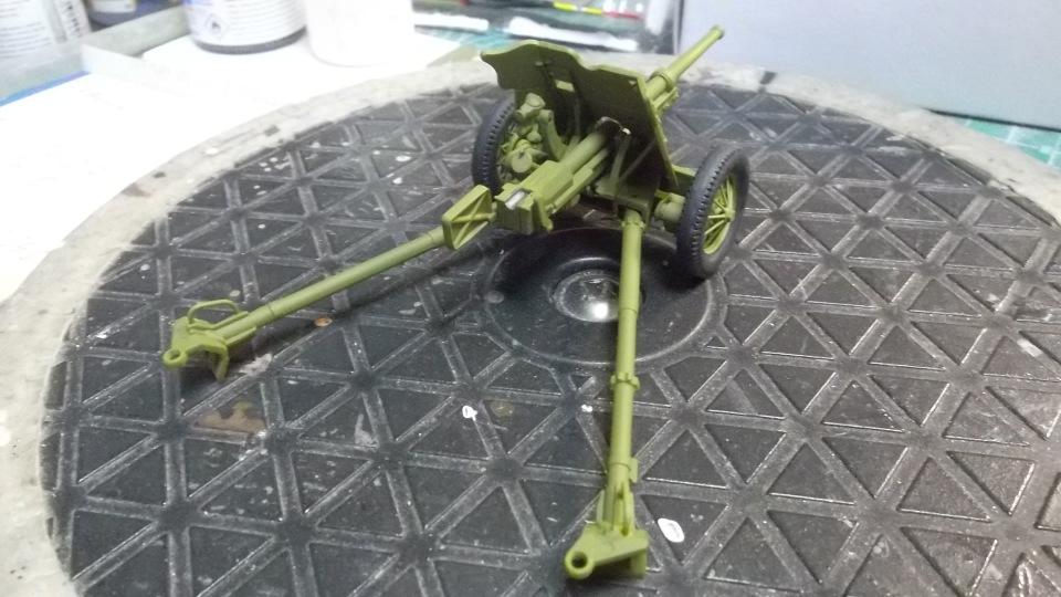45-мм противотанковая пушка обр.1937 г., 1/35, (Алангер 035101). 35f80918a086