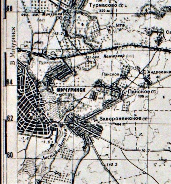 Козлов-Мичуринск на картах 6fce406743b8