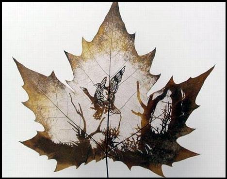 Креатив на кленовых листьях 67d9ba23a45f