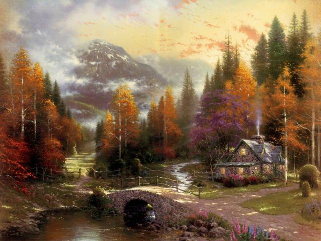 Сказочная реальность Томаса Кинкейда (Thomas Kinkade) 466bf3c9d089