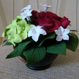 Цветы ручной работы из полимерной глины - Страница 2 0987cb2ec537
