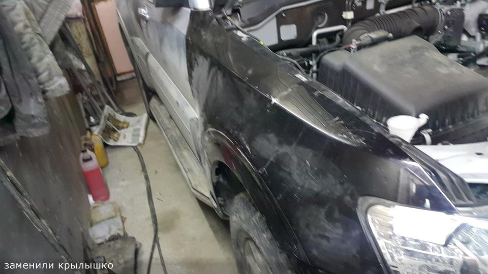 Ремонт Pajero 4 2012 рестайлинг после ДТП 3aeeb776130d