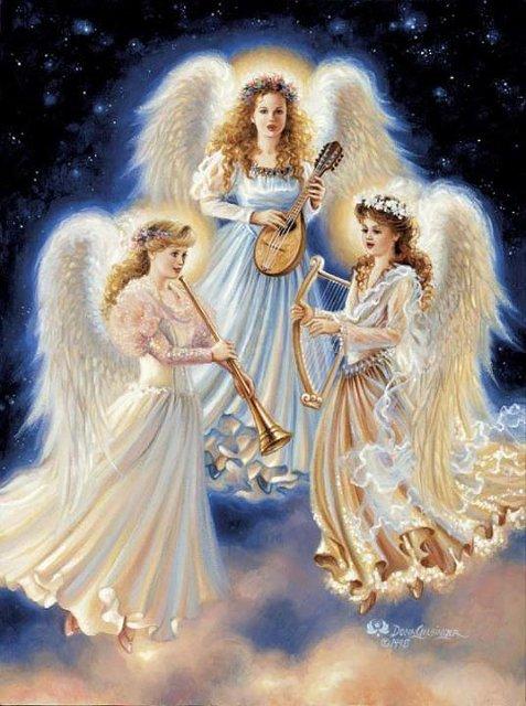Рождественские ангелы от Dona Gelsinger 5c717e496885