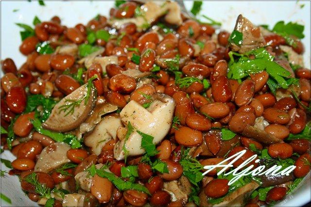Салат фасолевый с грибами 590e71f49484