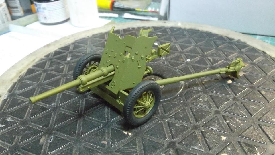 45-мм противотанковая пушка обр.1937 г., 1/35, (Алангер 035101). Db24d0ae707c