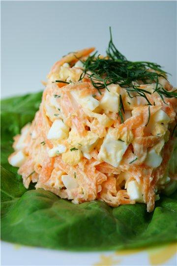 "Салат ""Морковка"" с яйцом и сыром 72c8f92c9196"