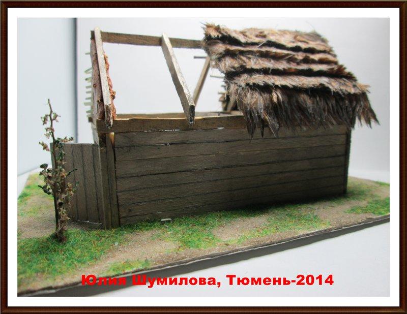 Реконструкция жилища викинга в разрезе с видом внутри, 10в., масштаб 1:100 1a7d0d498f6f