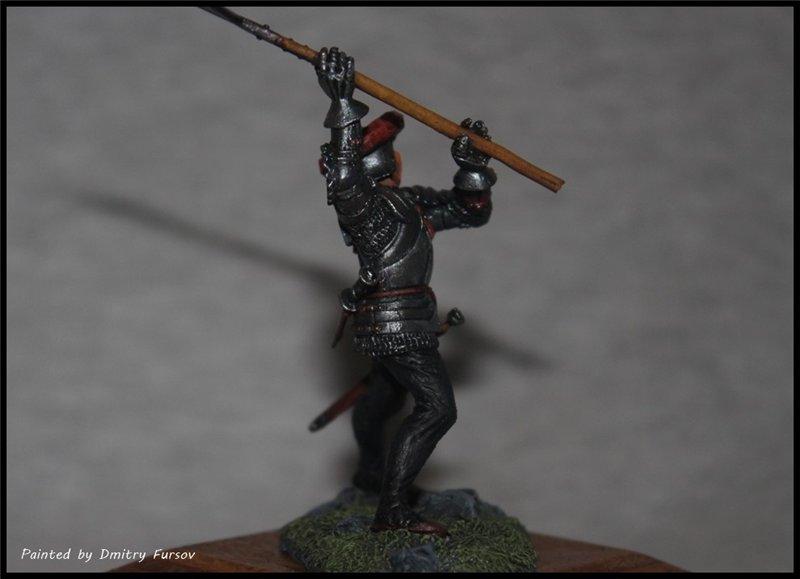 Европейский пехотинец 14-15 века. Автор: Дмитрий Фурсов, г. Тамбов. 261f64b76c49