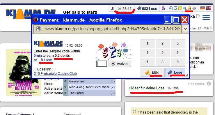 klamm.de - Lose бонусы немецкой электронной валюты 3619bc8831d7