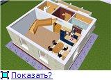 Проект часного дома с мансардой  2b6bc87ca9bft