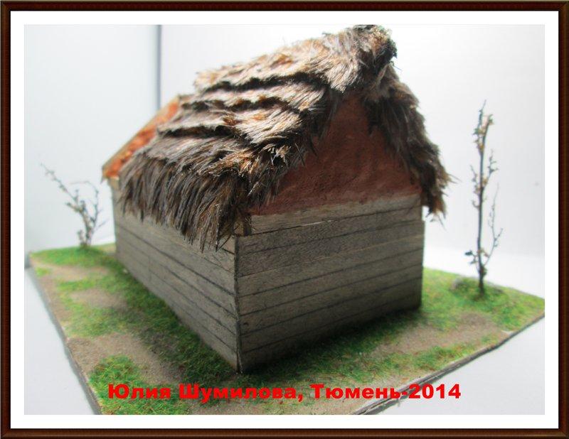 Реконструкция жилища викинга в разрезе с видом внутри, 10в., масштаб 1:100 7a40d5046ea7