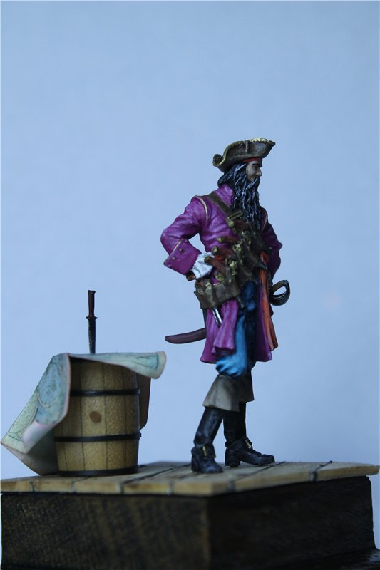 Пират Черная Борода пластик от ПРАПОРА 54мм 7aca6d433264