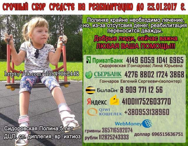 Помогите собрать средства на лечение дочери! C0fca2f1f222