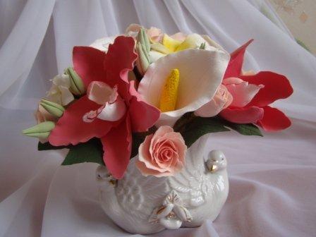 Цветы ручной работы из полимерной глины 41c0a8926517