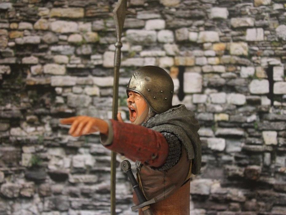 """2 шиллинга 5 пенсов """"Medieval guard"""", Автор: Дмитрий Фурсов, г. Тамбов. 3dc8f654dd74"""