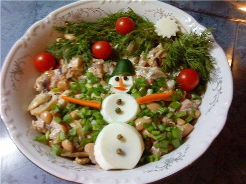 """Салат """" Просто вкусный"""" с фасолью и копченым окорочком 638e6ea4dc9f"""