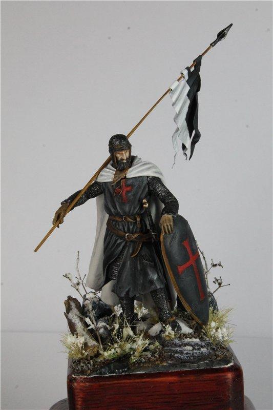 Рыцарь тамплиер 12 век 54мм ПРАПОР 69f0ce1eb825