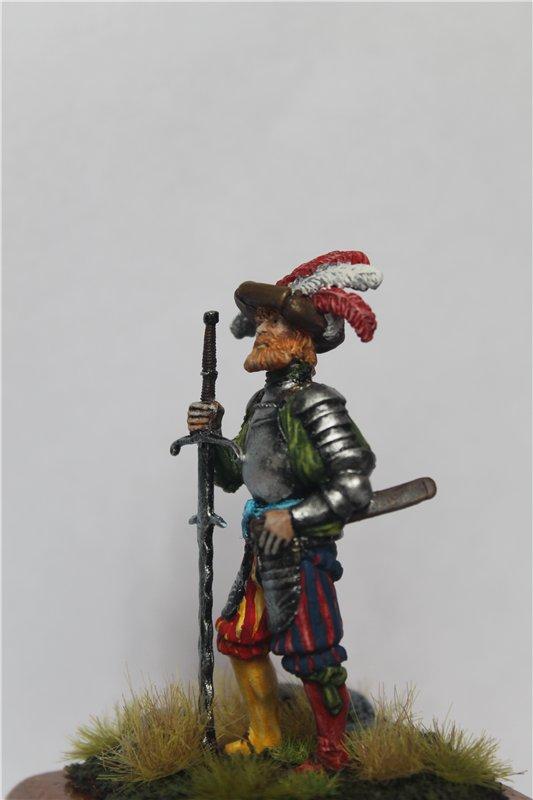 Ландскнехт с мечом, 16 век, 54мм. 4ee628d858af