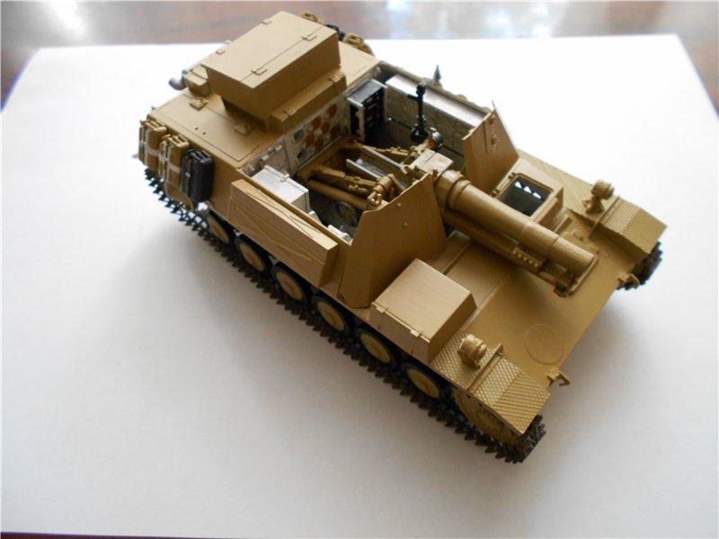 Немецкое 150-мм самоходное орудие Штурмпанцер II 1/35 (Арк модел) 6d1cd3c25344