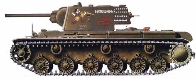 КВ-1 Беспощадный (Звезда+Арк-модел) 7b6e8ae055be