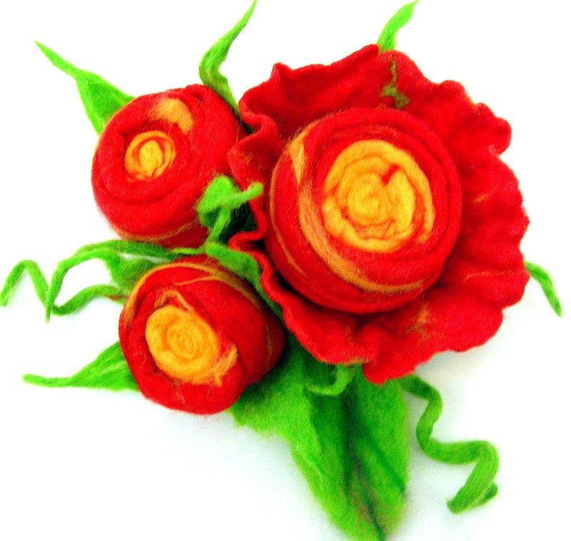Цветы из фетра 753a631b4f87