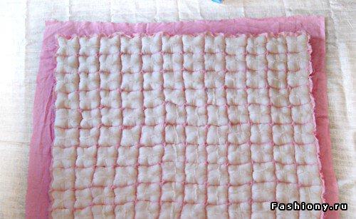 Шьем декоративное одеяло и подушку. Мастер-класс Feb502613326