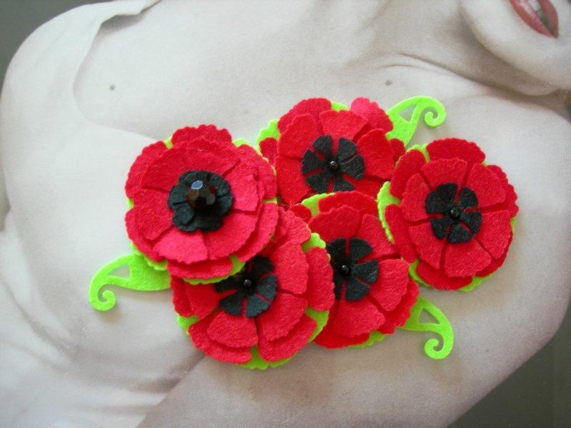 Цветы из фетра 15953cd3267d