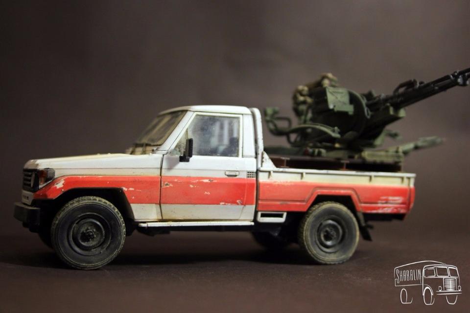 PickUP w/ZU-23-2 от Meng, масштаб 1/35 Dc4b11fd294a