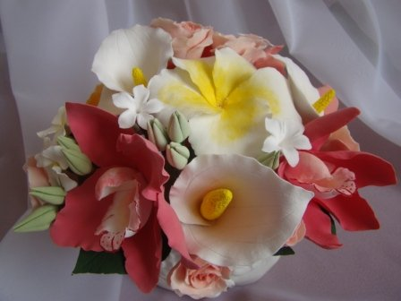 Цветы ручной работы из полимерной глины 7b89155ca35a