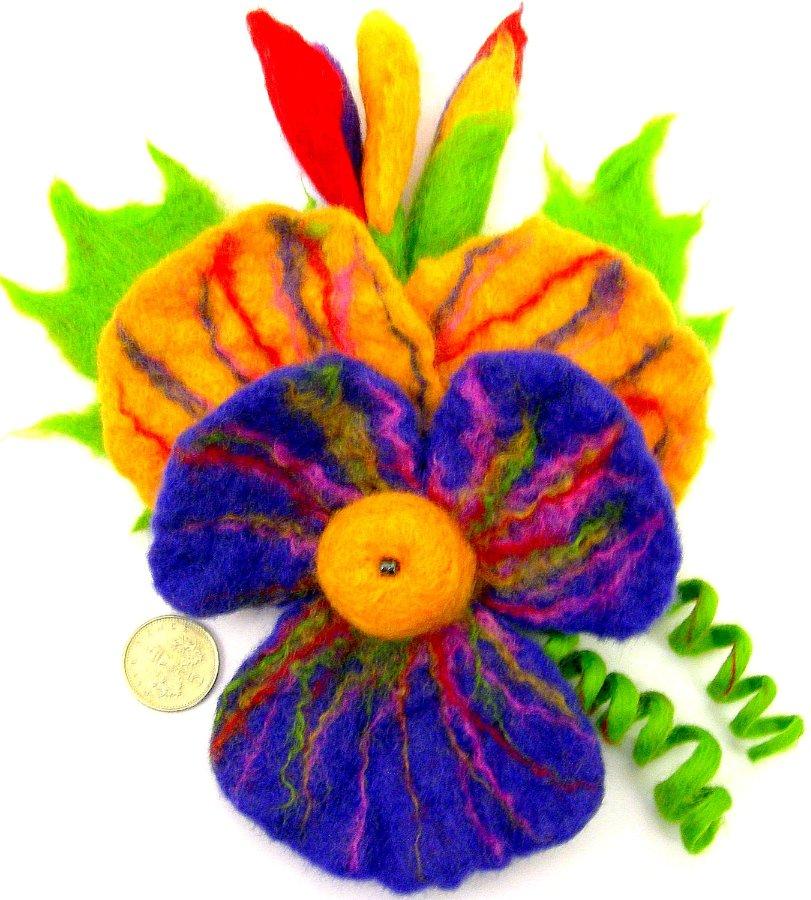 Цветы из фетра 33c2a6af9ed8