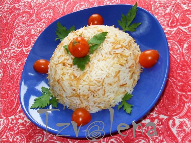 Рис с вермешелью. Гарнир. Арабская кухня 6d51b0f878cb