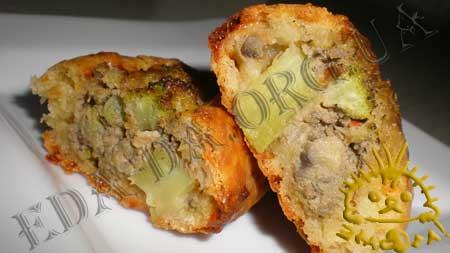 Пирожки с куриной печенью,грибами и брокколи...... ммммммм  вкууууусно!!! C387b8481ceb