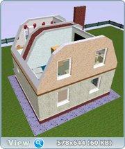 Проект часного дома с мансардой  008fa4414fb7