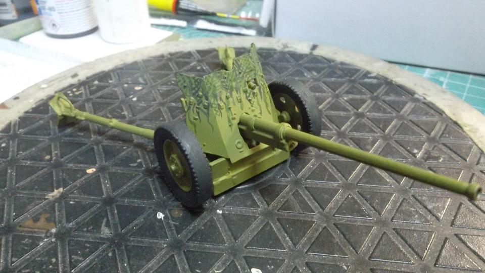 45-мм противотанковая пушка обр.1937 г., 1/35, (Алангер 035101). 14740fffabc2