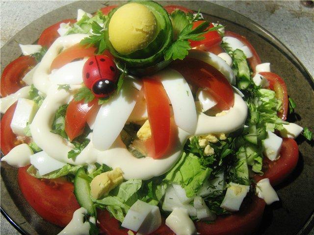 Сочный салат из свежих овощей с майонезом Dee7c9d60ca3