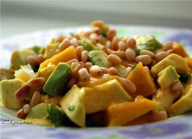 Манговый салат с авокадо 7e2881cc2e16