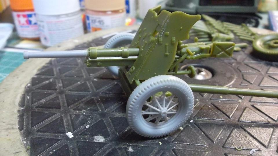 45-мм противотанковая пушка обр.1937 г., 1/35, (Алангер 035101). 5ba0c58d7501