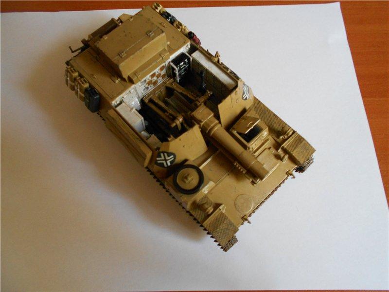 Немецкое 150-мм самоходное орудие Штурмпанцер II 1/35 (Арк модел) Fa672c082126