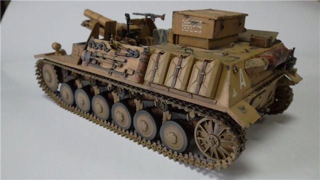 15 cm sIG auf Fahrgestell Pz II или Sturmpanzer II, 1/35, (ARK 35012) 9c6e57b9dbd5