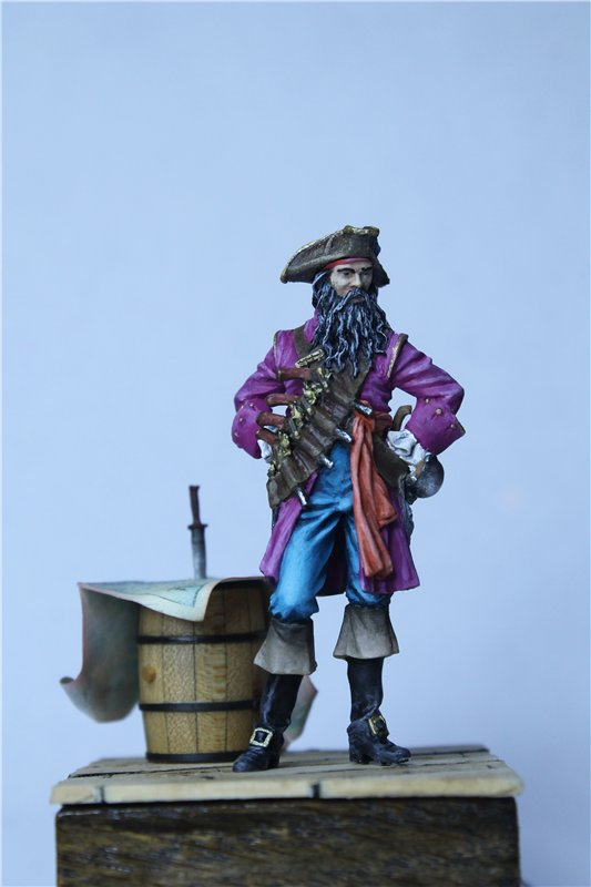 Пират Черная Борода пластик от ПРАПОРА 54мм 719f6ae9bfa9